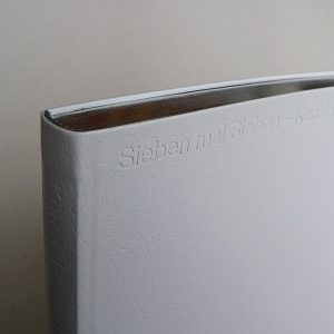 Die Publikation Sieben mal Sieben herausgegeben vom Kunstreferat 2019.