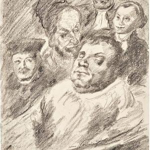 Lithographie mit Luther von Lovis Corinth.