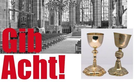 Die vom landeskirchlichen Kunstreferat herausgegebene Mesnerbroschüre Gib Acht.