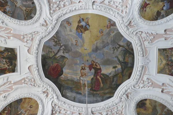 Deckenbild der Ordenskirche in Bayreuth.