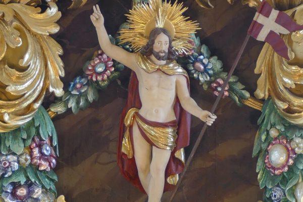 Christusfigur aus der Markrafenkirche Schauenstein.