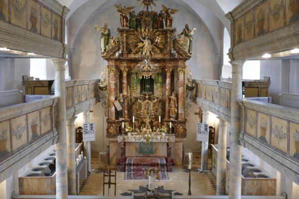 Die Markgrafenkirche in Wonsees.